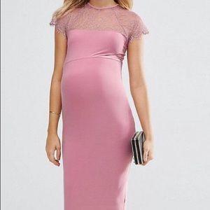 ASOS Maternity Dress w/ Lace bodycon
